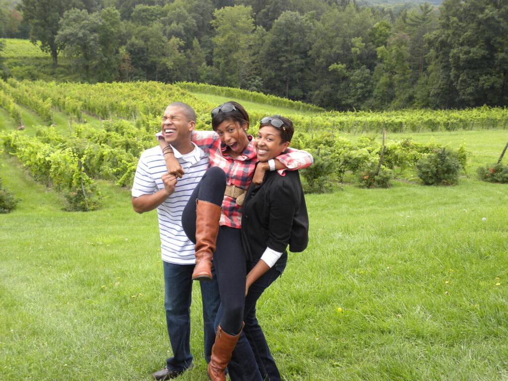 siblings at the winery