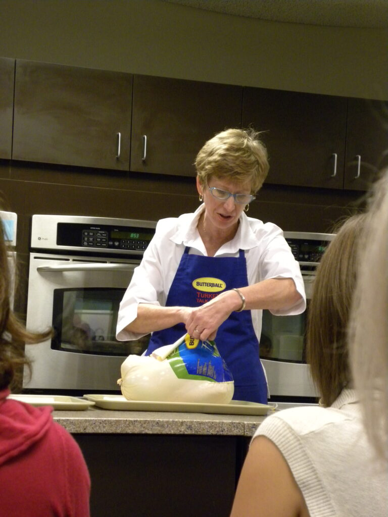 prepping the turkey