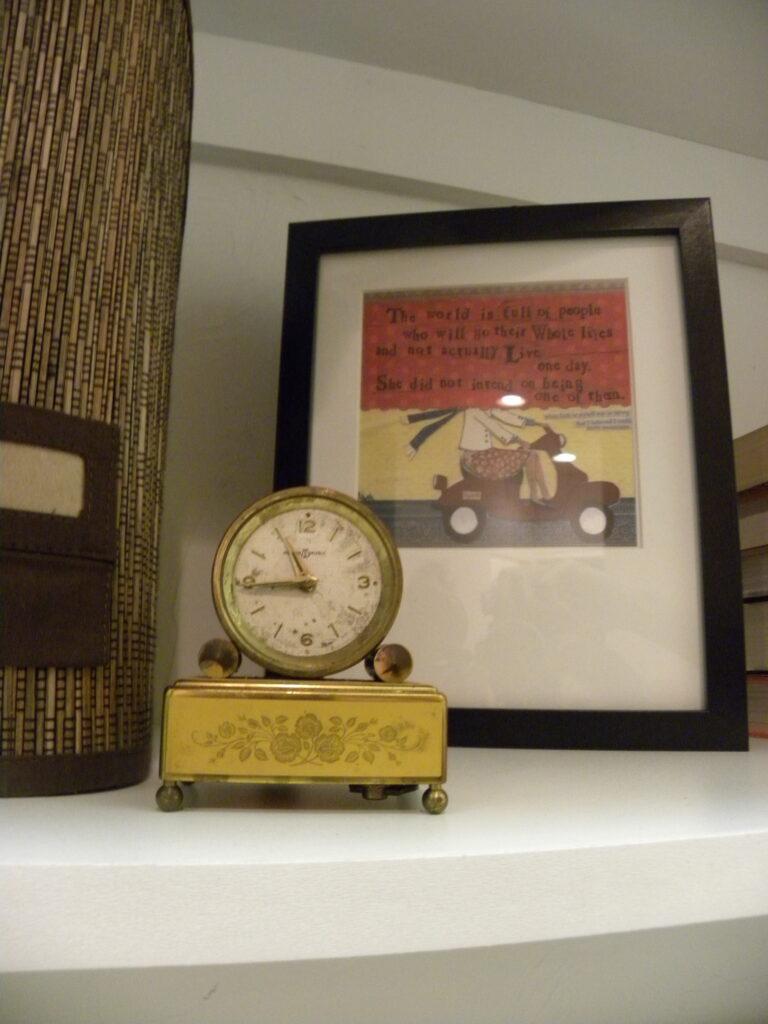 vintage clock and frame