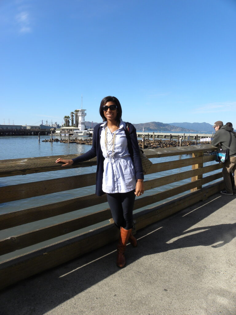 chels at the pier