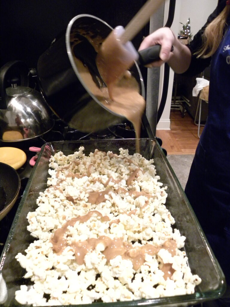 pour over popcorn