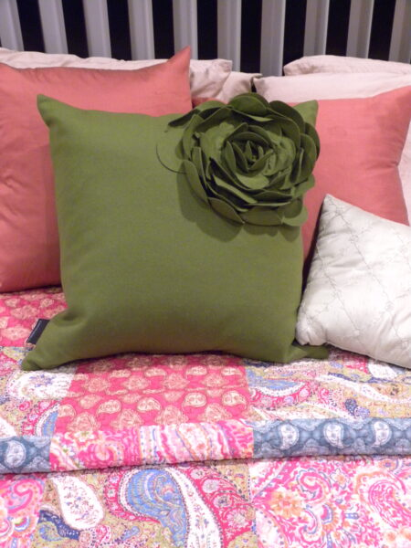 cynthia rowley quilt and pillow