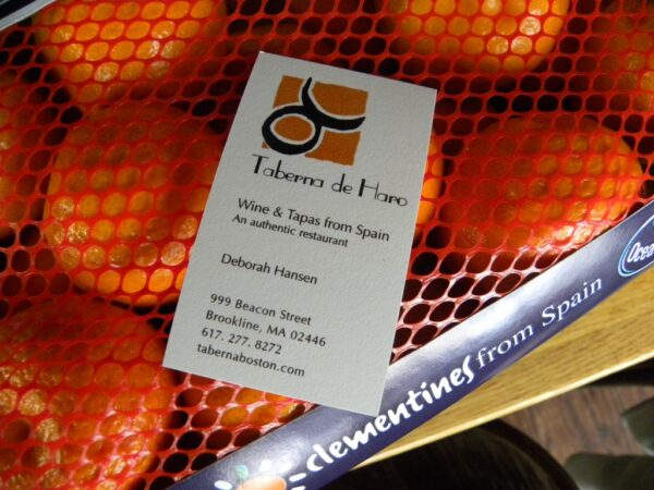 clementines of spain and taberna de haro