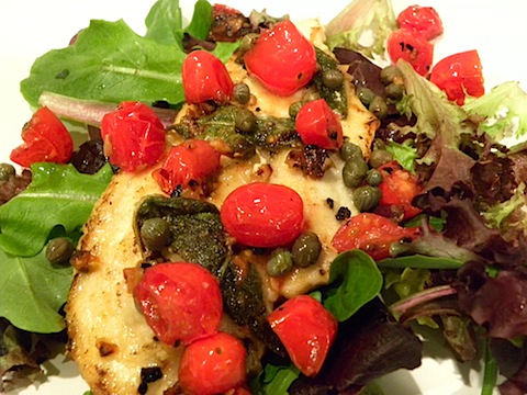 Chicken Cutlets with Tomatoes and Capers