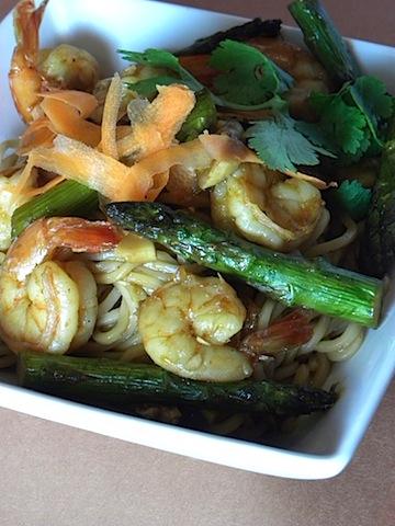Grilled Shrimp and Noodle Salad