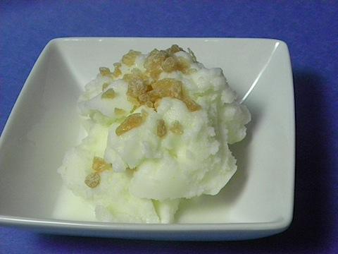 Lemon-Ginger Frozen Yogurt