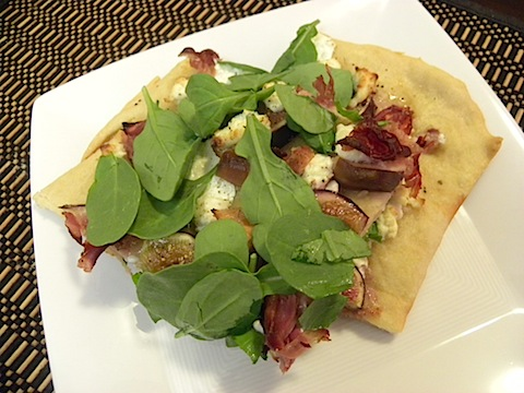 Fig, Prosciutto, and Goat Cheese Flatbread