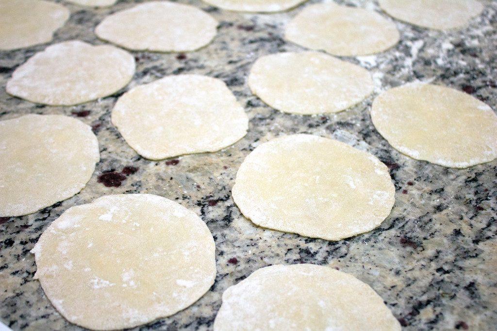 Rolling Dumpling Dough | wearenotmartha.com