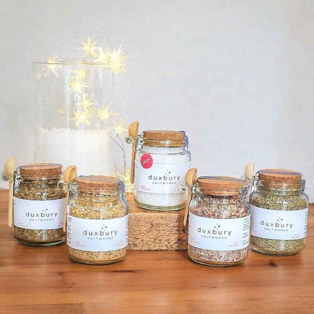 Duxbury Saltworks jars