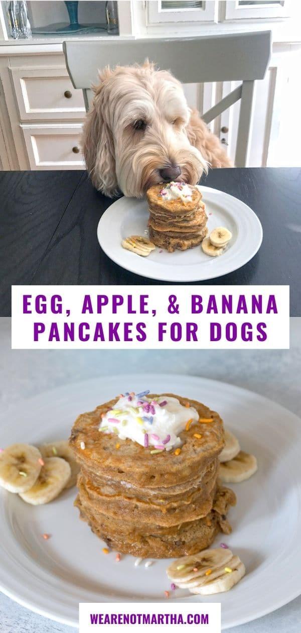 Egg, Apple, and Banana Pancakes for Dogs