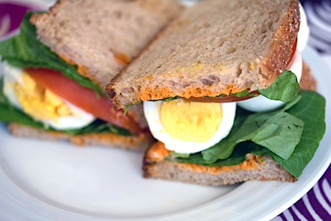 Egg, Lettuce, and Tomato Sandwich with Sriracha Mayo 11.jpg