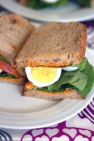 Egg, Lettuce, and Tomato Sandwich with Sriracha Mayo 9.jpg