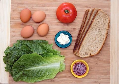 Egg, Lettuce, and Tomato Sandwich with Sriracha Mayo Ingredients.jpg