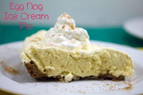 Egg Nog Ice Cream Pie - We are not Martha