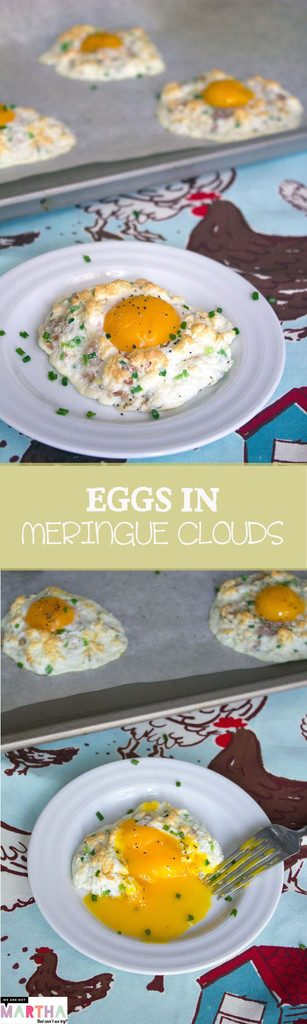 Eggs in Meringue Clouds -- The prettiest brunch around: Cloud Eggs! | wearenotmartha.com