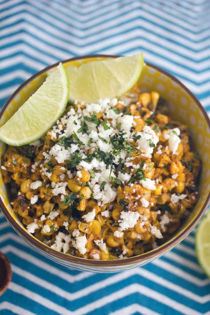 Elote Salad -- Love Mexican Street Corn, but want it in salad form? This recipe is for you! | wearenotmartha.com