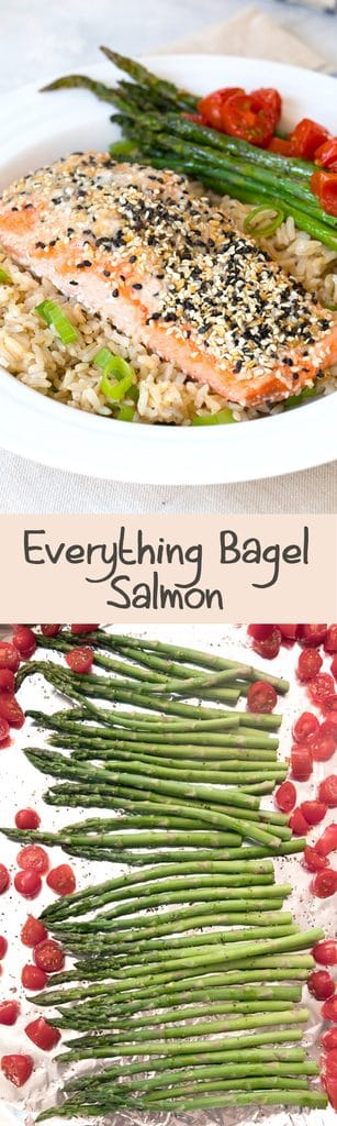 Everything Bagel Salmon -- With all the flavor of an everything bagel, this Everything Bagel Salmon is a whole lot healthier and the perfect easy weeknight dinner! | wearenotmartha.com