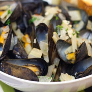 These Spicy Fennel Mussels are bright and flavorful with the perfect kick of spice (don't worry; they're not too spicy!) and are incredibly easy to make.