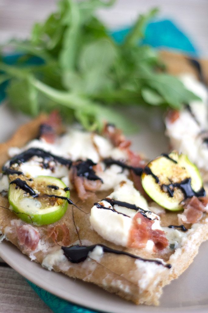 Fig, Prosciutto, and Ricotta Flatbread -- For the best pizza night ever | wearenotmartha.com
