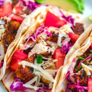 Fish tacos are delicious, but fish tacos with cheese and cajun spices are even better! This recipe is so simple, but incredibly fresh and delicious!