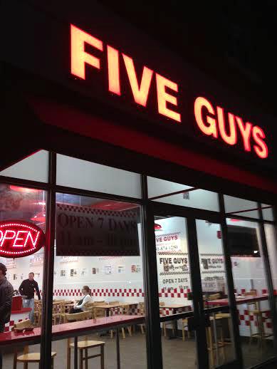 Five Guys Mushroom Burger