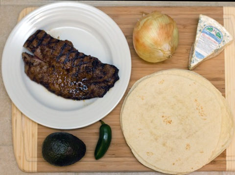 Flank Steak Gorgonzola Quesadillas Ingredients.jpg