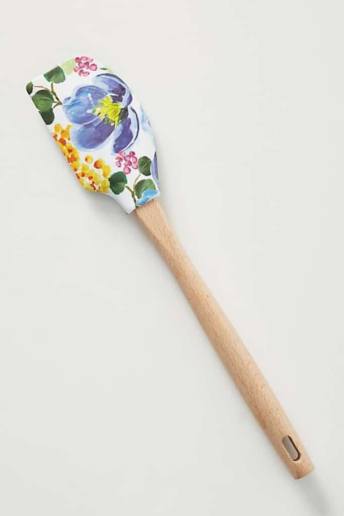 Pretty floral spatula