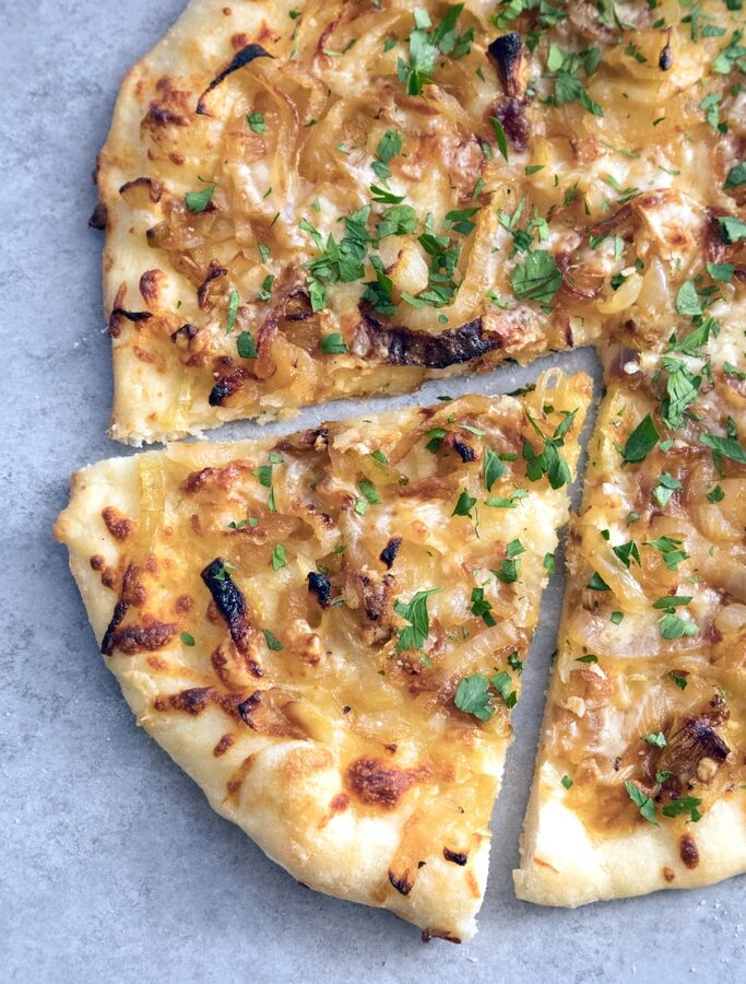 French Onion Soup Pizza -- If you're craving a big bowl of french onion soup, try it in pizza form instead! This pizza takes all the elements of the classic soup and turns it into a meal   wearenotmartha.com