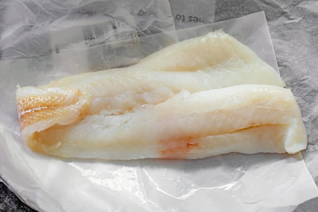 Piece of fresh cod