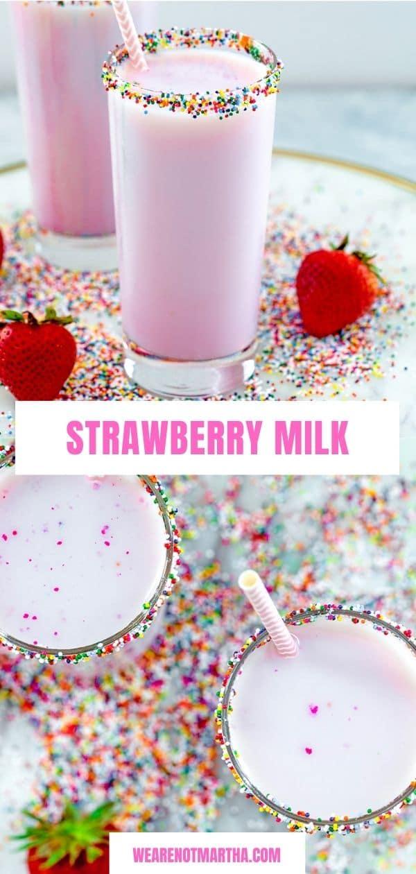 Fresh Strawberry Milk