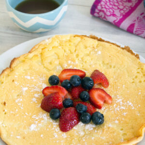 German Pancake with Berries -- Easier and more delicious than your average pancake! | wearenotmartha.com