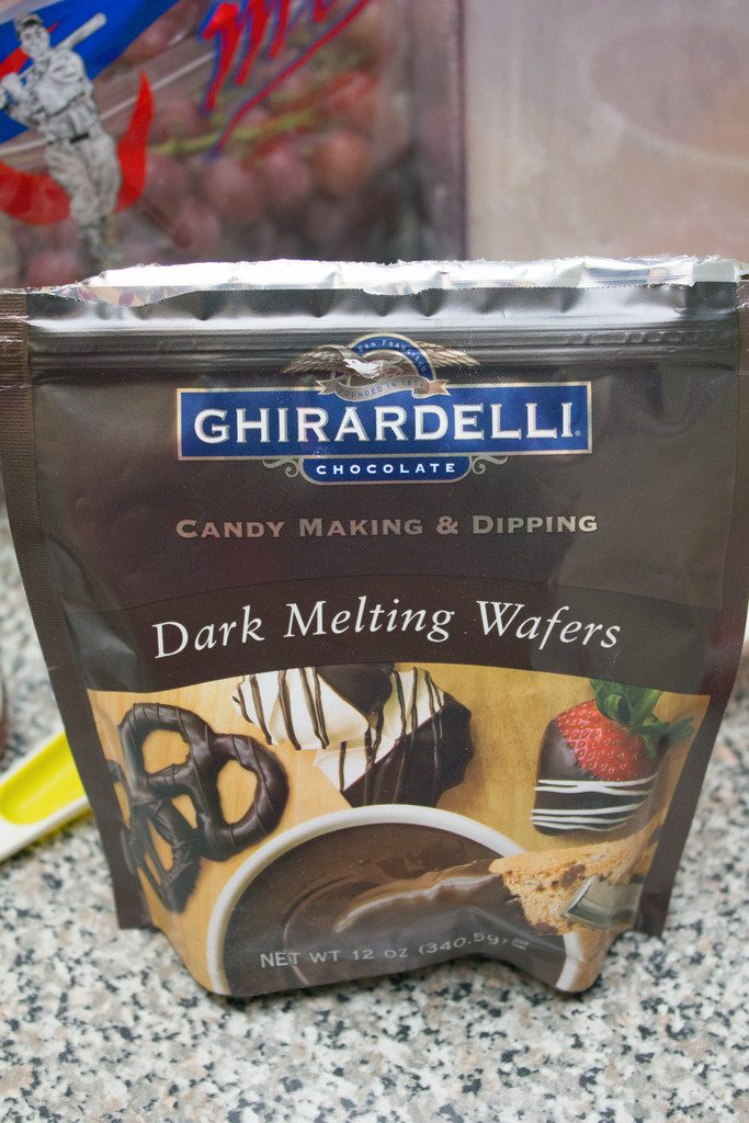Bag of Ghirardelli dark chocolate melting wafers