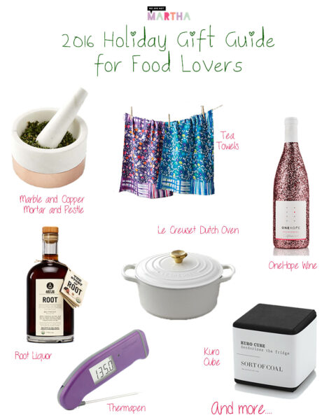 2016 Holiday Gift Guide for Food Lovers | We are not Martha
