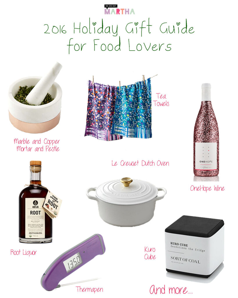 2016 Holiday Gift Guide for Food Lovers | wearenotmartha.com