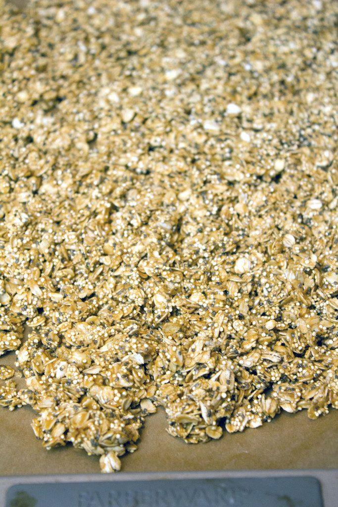 Peanut Butter Quinoa Chia Granola -- A healthy and delicious homemade granola! | wearenotmartha.com