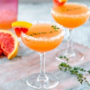 Grapefruit Lillet Cocktail -- Made with only three ingredients, this Grapefruit Lillet Cocktail is the perfect combination of bitter and sweet and makes for a refreshing cocktail any time of year   wearenotmartha.com #grapefruit #lillet #lilletblanc #vodka #grapefruitcocktail #cocktails