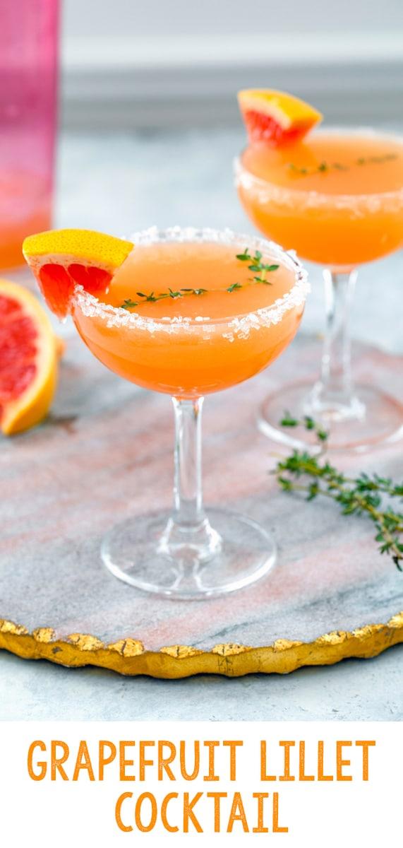 Grapefruit Lillet Cocktail