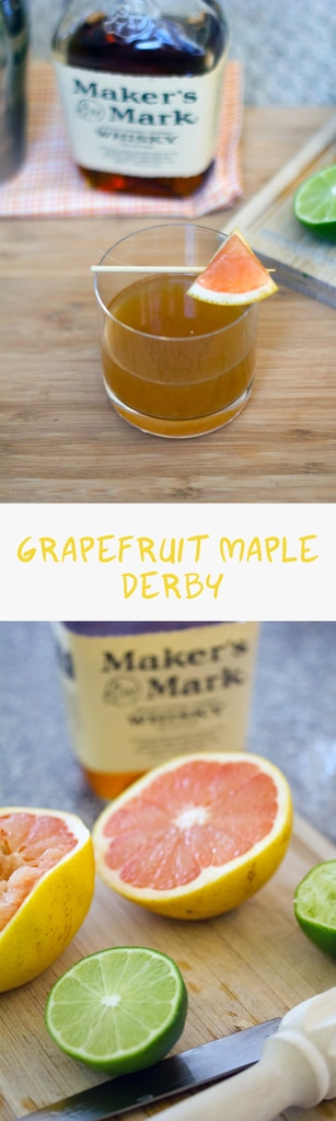 Grapefruit Maple Derby -- A cocktail packed with bourbon, maple ginger syrup, grapefruit, and citrus   wearenotmartha.com