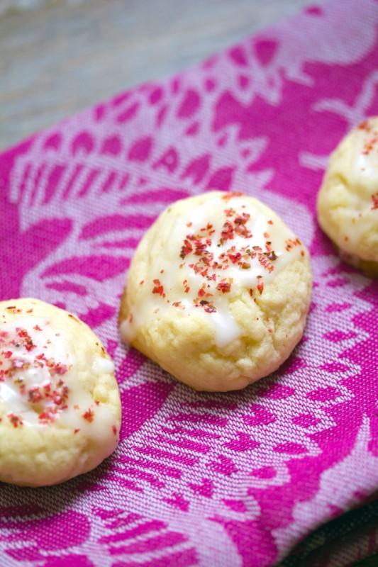 Grapefruit Pink Peppercorn Cookies