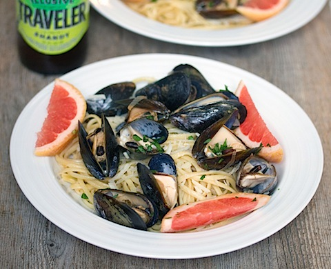 Grapefruit Shandy Mussels with Grapefruit Linguine 6.jpg