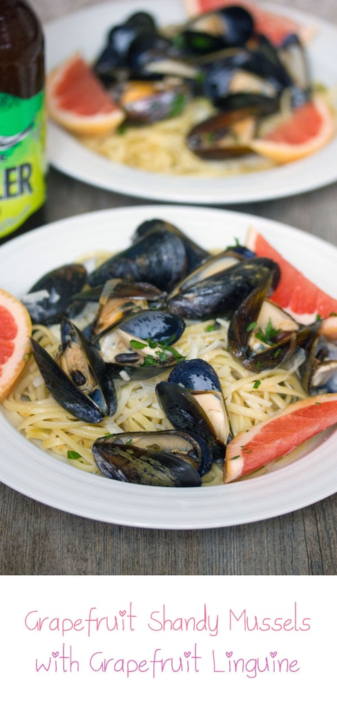 Grapefruit Shandy Mussels with Grapefruit Linguine -- Grapefruit Shandy Mussels with Grapefruit Linguine is the