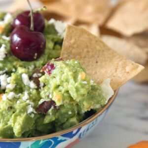Grilled Guacamole with Cherries and Habaneros