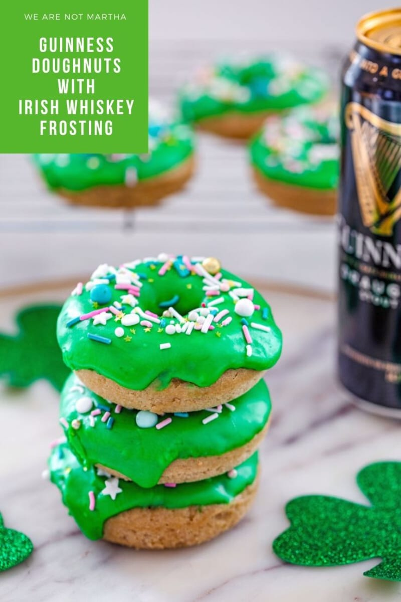 Guinness Doughnuts with Irish Whiskey Frosting