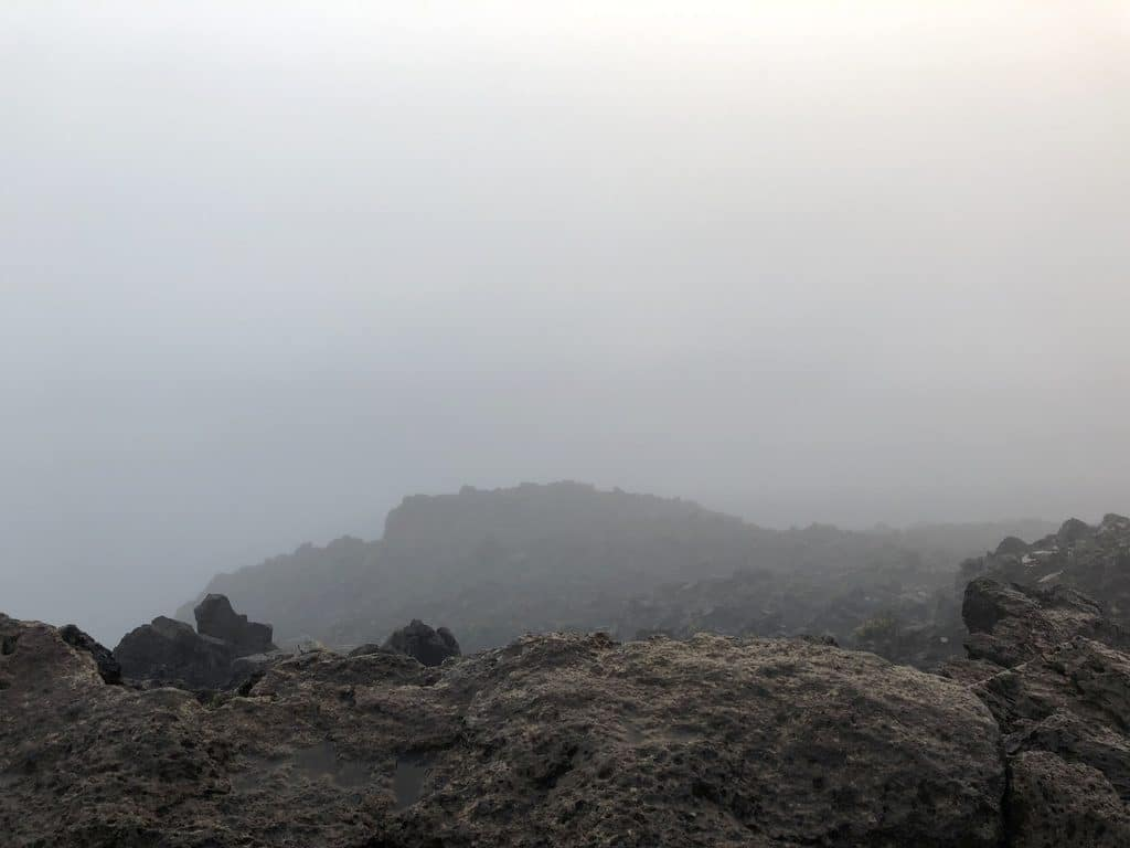 A foggy sunrise at Haleakala in Maui