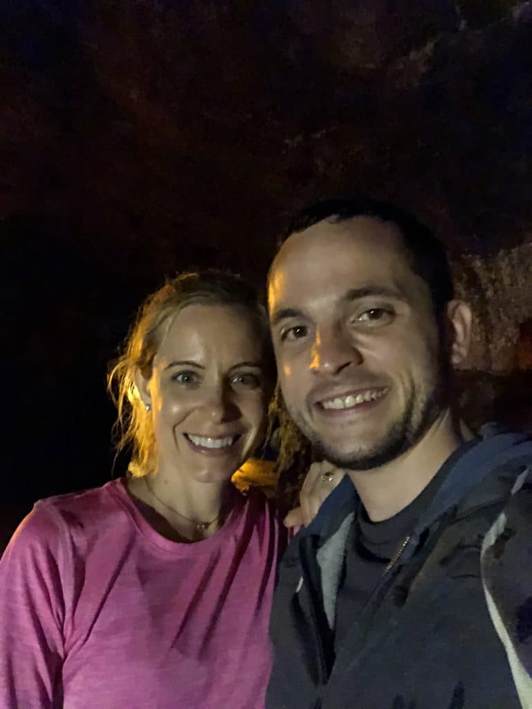 Sues and Chris in the Thurston Lava Tubes while on the Kīlauea Iki Trail at Volcano National Park on the Big Island of Hawaii