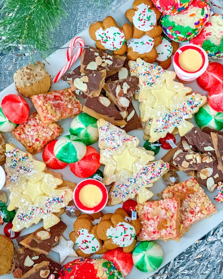How to Arrange the Perfect Holiday Cookie Platter -- 'Tis the season for holiday cookies! But instead of just throwing them on a plate before your holiday party, use these tips for how to arrange the perfect holiday cookie platter (hint: always serve with eggnog!)  wearenotmartha.com
