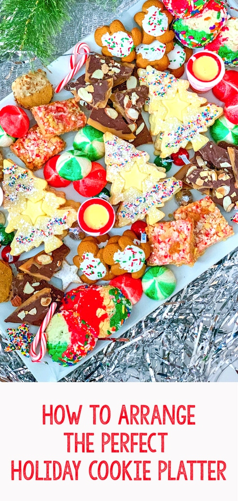 How to Arrange the Perfect Holiday Cookie Platter -- 'Tis the season for holiday cookies! But instead of just throwing them on a plate before your holiday party, use these tips for how to arrange the perfect holiday cookie platter (hint: always serve with eggnog!)| wearenotmartha.com  #eggnog #cookies #cookitplatter #cookieplate #holidays #christmas