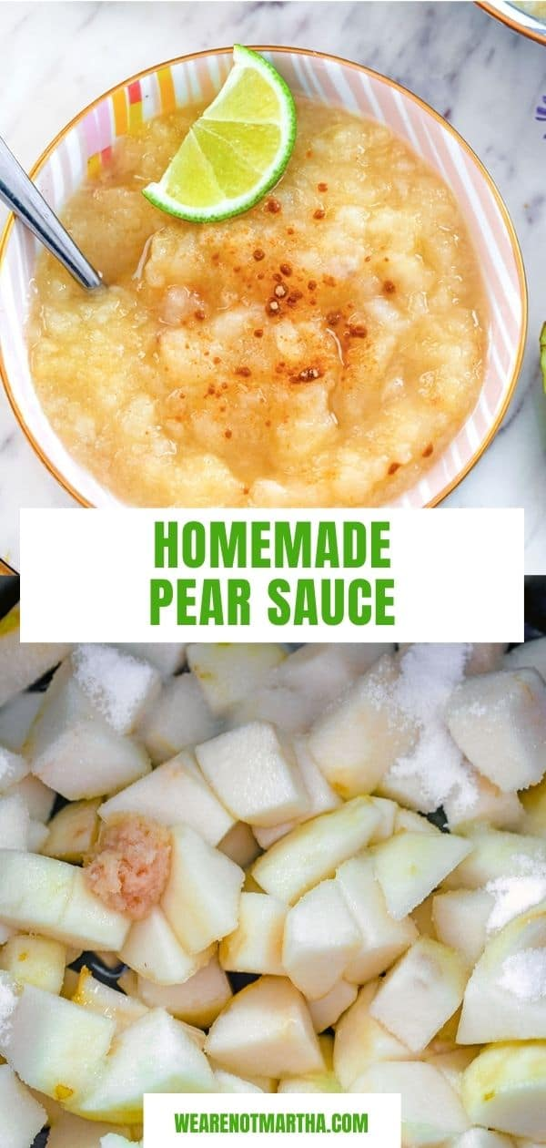 Lime Ginger Pear Sauce