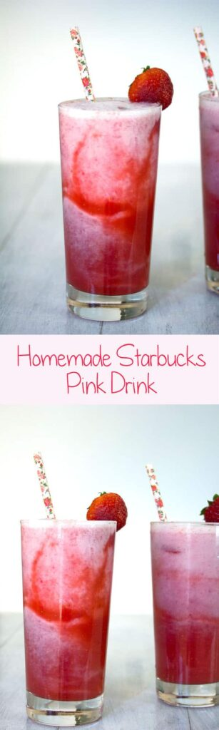 Homemade Starbucks Pink Drink -- Make this Starbucks secret menu item recipe at home! | wearenotmartha.com