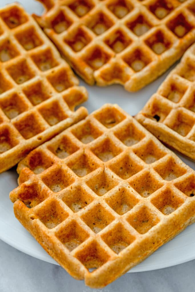 Overhead view of waffles